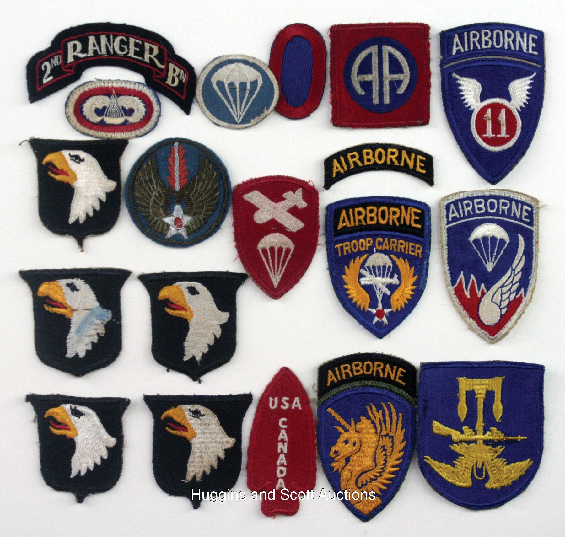 (500+) WWII & Korean War Military Patches, Rank Insignias